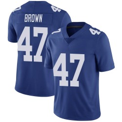 Cam Brown New York Giants Men's Limited Royal Team Color Vapor Untouchable Nike Jersey - Brown