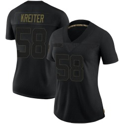 Casey Kreiter New York Giants Women's Limited 2020 Salute To Service Nike Jersey - Black