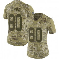 Victor Cruz New York Giants Women's Limited 2018 Salute to Service Nike Jersey - Camo