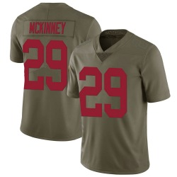 Xavier McKinney New York Giants Men's Limited Salute to Service Nike Jersey - Green